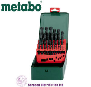 METABO HSS-R 25 PIECE DRILL BIT SET IN METAL CASE - 627152000