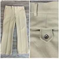 Vintage 60s Sears Kings Road Gabardine Double Knit Pants Trousers Disco 38 X 30