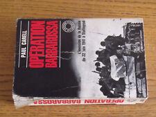 18$$ Livre Operation Barbarossa Invasion de la Russie / Paul Carell