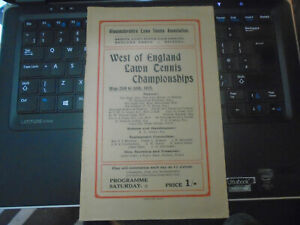 1925 West of England Lawn Tennis Championships Programme