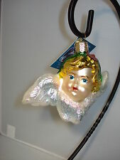 Cherub Ornament With Wings German Glass Old World Christmas 10119 27