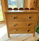 Vintage Quartersawn Sycamore Small Chest Box Storage Jewelry Box