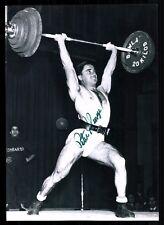Peter George originale firmato OLYMPIA vincitore 1952 Sollevamento Pesi + G 17758