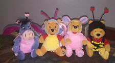 "Vintage Disney Store Plush Mini Bean Bag 8"" Plush (4) Winnie the Pooh, Eeyore"