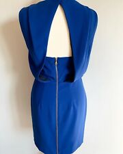Whistles Cobolt Blue Open Back Sheath Pencil Cocktail Dress, Size 8