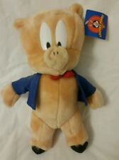 "10"" Stuffed Plush Animal Toy Doll Pig Porky ACE Looney Tunes Warner Bros. 1997"