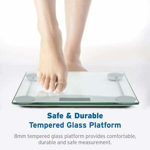 Silver Digital Body Weight Bathroom Scale With Body Tape Measure, 400 Lbs Cap.
