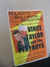 A3 SIZE POSTER Vince Taylor and the Playboys, MAJESTIC, BRADFORD FEB 1961 No 3