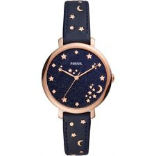 Fossil Womens Jacqueline Blue Leather Strap Blue Dial ES4521 Ladies Watch