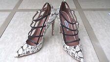 Retail $1345 Tabitha Simmons Strappy Snakeskin & Leather Pumps Sz EU 38/ US 8