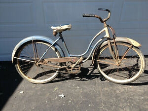 Vintage 1950's original Schwinn ladies bicycle in working condition.