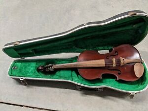 MEDIO FINO FRENCH VIOLIN WITH INTRICATE CARVED BOW ANTIQUE 4/4