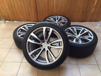 "New 4x 20"" INCH alloy wheels for BMW X5 E70 F15 X6 F16, 469 style + summer tyres"