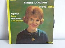 SIMONE LANGLOIS Chante Brel Au printemps 450074 PAE