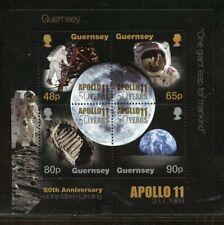 GUERNSEY 2019 APOLLO 11 50 YEARS  SOUVENIR SHEET MINT NH