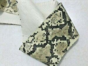 Asia Spitting Leather Snake Hide Skin Python snake thickness Lambskin Snakeskin