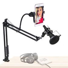 Mic Stand Desk Adjustable Microphone Suspension Boom Scissor Arm Phone Holder