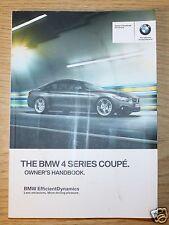 BMW 4 Serie Coupe F32 Manual Del Propietario Manual Libro 2013-2017 6691