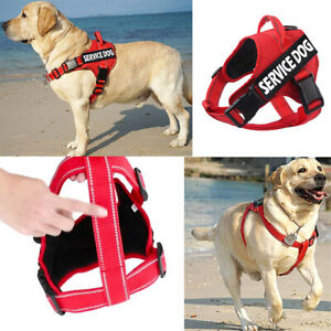 No-Pull Emotional Support Pet Vest With 2 Tags Service Dog Reflective Harness