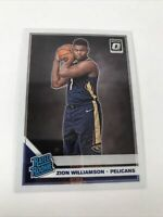 2019-20 PANINI DONRUSS OPTIC ZION WILLIAMSON #158 RATED ROOKIE RR RC PELICANS
