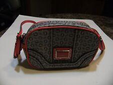 Guess Handbag With Crossbody Strap Pinky Orange / Black Gray