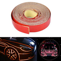 5m x 1cm Red Reflective Stripe Sticker Tape Car Truck Body Self Adhesive Decal