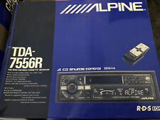 Alpine Tda-7556R tape deck And Cha S604 Cd Changer Old School Car Audio