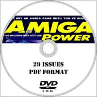 AMIGA POWER computer magazine on DVD ROM 29 issues! PDF Format