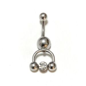 All Lengths Available: Dangle Gem Horseshoe Surgical Steel VCH Piercing Barbell.