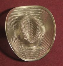 Handmade Silver Tone Metal Screen Cowboy Hat Pin