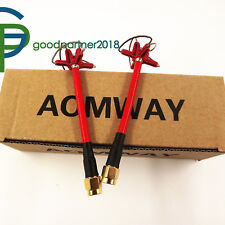 Aomway 5.8Ghz Clover leaf FPV RHCP Antenna RP-SMA for TX RX(4-Leaf 1 Pair)