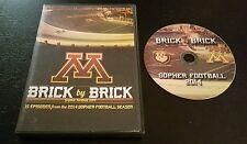 Brick By Brick: Gopher Football 2014 (DVD) season college U of M MN Minnesota