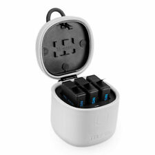 TELESIN 3-Battery Charger Type-C Charging Box For GoPro Hero 7/6/5 Battery TG