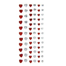 American Crafts Dcwv Heart Gem Foam Stickers Self-Adhesive - Red White 74 Pieces