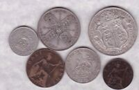 1923 GEORGE V SET OF 6 COINS IN A USED CONDITION