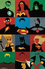 Justice League Characters Minimalist Comic Poster shrink wrapped 22x34
