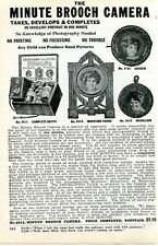 1926 small Print Ad of Minute Brooch Camera any child can produce good pictures