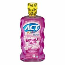 ACT Kids Anticavity Fluoride Rinse Bubble Gum Blowout 16.9 Ounce, 5 Pack