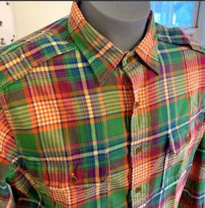 MINT 💥Polo Ralph Lauren Colorful Button Down Plaid Shirt XL