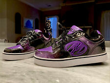 ~Heelys~Motion Plus Galaxy Purple/Black Shoe Skates, Kids Size 5, A+ Condition