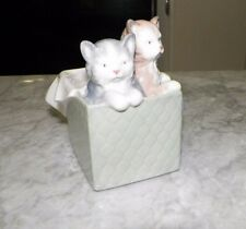 "NAO BY LLADRO TWO KITTENS IN A BOX 3 1/4"" LONG"