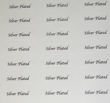 380 x Silver Plated Printed Adhesive Labels - Jewellery tags FREE DELIVERY