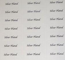 380 x placcato in argento Etichette Adesive Stampa-Etichette di gioielli CONSEGNA GRATUITA