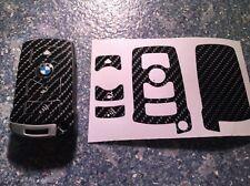 Carbonio Nero Lucido Chiave Pellicola BMW Key E67 Serie 5 E67 6 7 E65 E66 E M...
