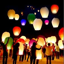 10 PCS Sky Lanterns Paper Lanterns Chinese Wishing Lantern For Birthday Wedding
