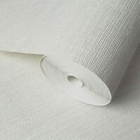 modern Wallpaper textured horizontal stria lines Off white cream faux grasscloth