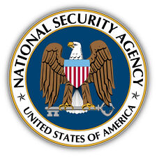 National Security Agency Seal USA Car Bumper Sticker Decal 5'' x 5''
