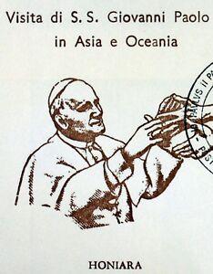 Solomon Islands Trip/Travel Of Pope John Paul II Vatican Envelope PA55