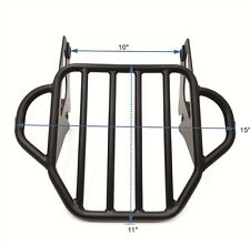 Black King Detachable Luggage Rack For '09-'17 Harley Road King/Street Glide