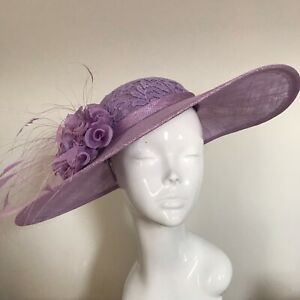 Exclusive Lilac Designer Millinery by Hat Couture Wedding Bridal Race Hat